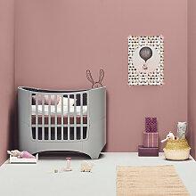 Leander Babybett aus Holz in Grau inkl.