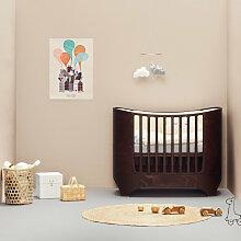 Leander® Babybett aus Holz in Walnuss-Farbe inkl.