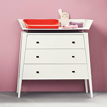 Leander Linea Kommode aus Holz in weiss, 3