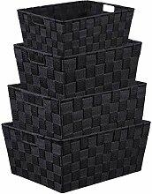 LEAVINSKY Aufbewahrungsbox, gewebt schwarz
