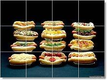Lebensmittel Bild Badezimmer Fliesen Wand F018. 45,7x 61cm mit (12) 6x 6Keramik Fliesen.