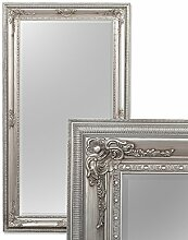 LEBENSwohnART Spiegel Eve 180x100cm Antik-Silber Pompös Barock Wandspiegel Holzrahmen Facette