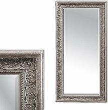 LEBENSwohnART Spiegel Fiora 100x50cm Antik-Silber