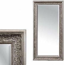 LEBENSwohnART Spiegel Fiora 120x60cm Antik-Silber