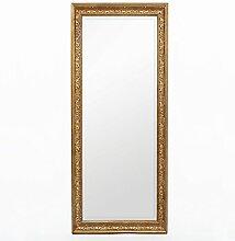LEBENSwohnART Spiegel Fiora 180x70cm Antik-Gold
