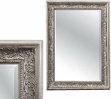 LEBENSwohnART Spiegel Fiora 70x50cm Antik-Silber