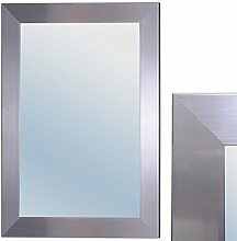 LEBENSwohnART Spiegel GINOS 90x70cm Glanz-Silber