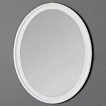 LEBENSwohnART Spiegel Nerina 50x40cm weiß oval