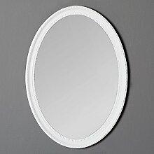 LEBENSwohnART Spiegel Nerina 70x50cm weiß oval