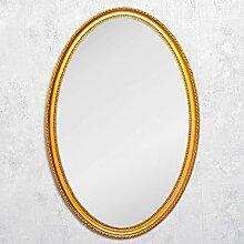 LEBENSwohnART Spiegel Nerina 90x60cm Gold-antik