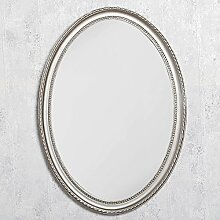 LEBENSwohnART Spiegel Nerina 90x60cm Silber-antik