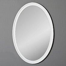 LEBENSwohnART Spiegel Nerina 90x60cm weiß-matt
