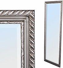 LEBENSwohnART Spiegel Stripe 180x70cm Silber antik