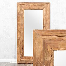 LEBENSwohnART Wandspiegel Teak ca. 130x70cm