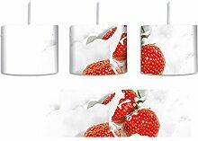 Leckere Erdbeeren in Milch inkl. Lampenfassung