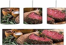 Leckeres Steak inkl. Lampenfassung E27, Lampe mit