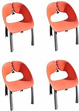 Leco 4 x Luxus Diningsessel Trend - rot,