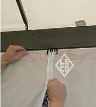 Leco 4er-Set Seitenteile für Kuppeldachpavillon