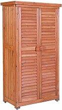 Leco Aufbewahrungsschrank für den Außenbereich, Größe: Höhe 160 cm, Breite 87 cm, Tiefe 46.5 cm, mahagonifarben