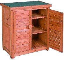 Leco Aufbewahrungsschrank für den Außenbereich, Größe: Höhe 95 cm, Breite 87 cm, Tiefe 46.5 cm, mahagonifarben