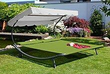 Leco Doppel Gartenliege Sonnenliege Relaxliege