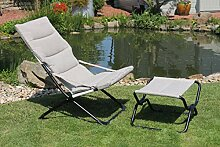 Leco Mia-Maria beige Stuhl mit Hocker 84 63 88 cm