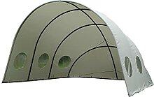 LECO Pavillon Muschel , grau, Stahl/Polyester, 400
