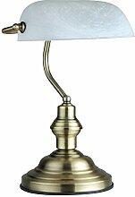 LED 6 Watt Tischleuchte Bankerlampe Antik