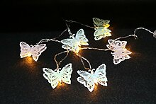 LED 6er Lichterkette Schmetterling Girlande mit