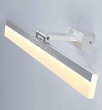 LED 8W Spiegelleuchte Aluminium Silber Wandleuchte