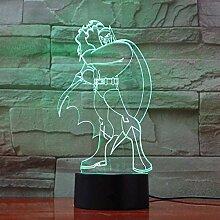 LED Acryl 3D Illusion Lampe mit 7 Farben ändern