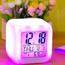 LED Ändern Mode Elektronische Uhr Digital Alarm