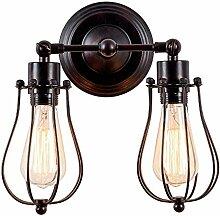 LED amerikanische retro industrielle Wandlampe E27