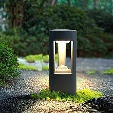 LED Anthrazit Wasserdichte Sockelleuchte Aluminium
