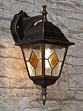 LED Antike Wand-Energiespar-Außenleuchte 5 Watt IP43 aus Aluguss Außenlampe Wandleuchte Lampe Leuchte
