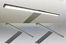 LED Aufbauleuchte 2-er Komplettset / Alu / Art. 2185-2 / Schrankleuchte / Lichtfarbe warm weiß / mit Netzteil, Kabeln und Steckverbindungen