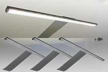LED Aufbauleuchte 3-er Komplettset / Alu / Art. 2185-3 / Schrankleuchte / Lichtfarbe warm weiß / mit Netzteil, Kabeln und Steckverbindungen
