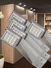 LED Aufbauleuchte 5-er Komplettset Chrom / Art. 2250-5 / warm weiß Schrankleuchte Kleiderschrankleuchte Möbelbeleuchtung Aufbauleuchten Vitrinenleuchte Spiegelleuchte Set mit Netzteil