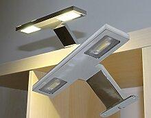 LED Aufbauleuchte 8W 900LM 4000K / Mod. RD7002 / Chrom Schrankleuchte Spiegelleuchte Möbelleuchte Vitrinenleuchte HELITEC