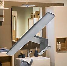 LED Aufbauleuchte Badleuchte / Art. 2037 / Spiegelleuchte Möbelleuchte Schrankleuchte Alu warmweiß 230 Vol