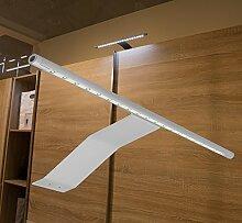 LED Aufbauleuchte Schrankleuchte / Art. 2086-0 / Lichtfarbe kalt weiß mit Kabel und Steckverbindung Spiegellampe Schrankleuchte Möbelleuchte Aufbaulampe Alu