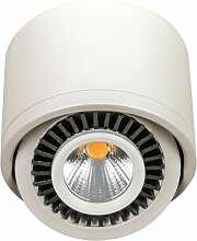 LED Aufbaustrahler 7W schwenkbar 88x60mm weiß lackiert