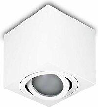 LED Aufbaustrahler Aufbauleuchte OH37 Weiß