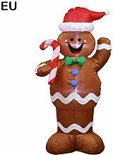 LED Aufblasbar Weihnachtsmann Santa Beleuchtet