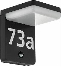 LED Außen Wand Lampe Bewegungsmelder Hausnummer