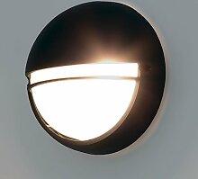 LED Außenlampe RAD.32G Wandleuchte Metal/Glas E27