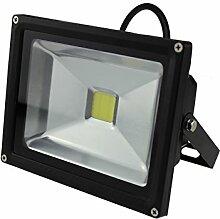LED-Außenleuchte, 20W, 1600lm, Lichttemperatur 6000K, AC 230V, schwarz