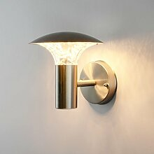 LED Aussenleuchte 5 Watt Aussenwandleuchte Wandleuchte Wandlampe Gartenleuchte Edelstahl 451 ohne Bewegungsmelder