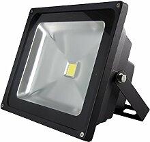 LED-Außenleuchte, 50W, 4000lm, Lichttemperatur 6000K, AC 230V, schwarz