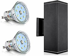 LED Aussenleuchte Aussenlampe Wandlampe Schwarz